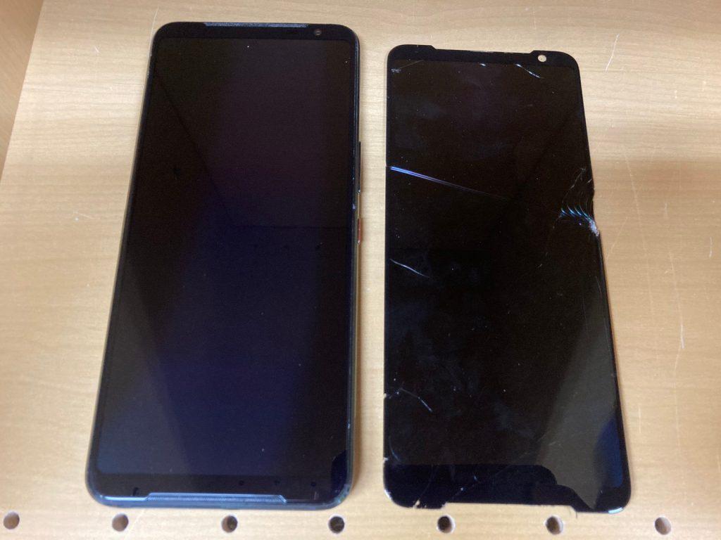Rog phone3 zs661ks 画面修理 画面交換 画面割れ 新宿