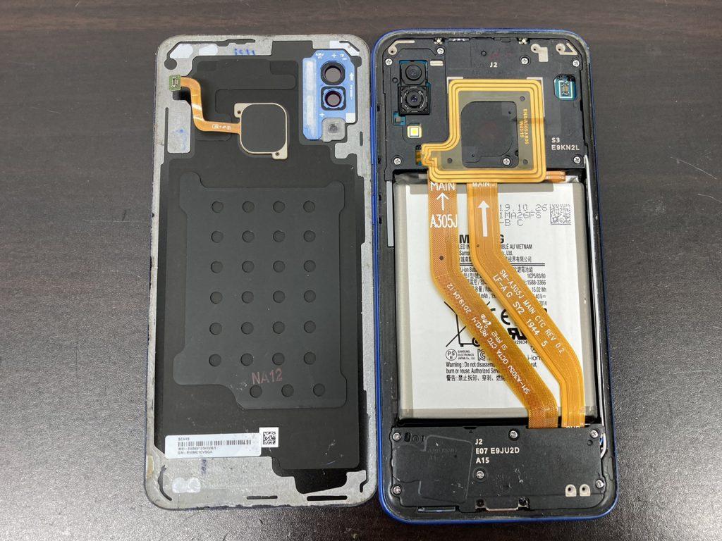 Galaxy A30 画面割れ 画面交換 画面修理 ドックコネクタ 充電口 修理 新宿