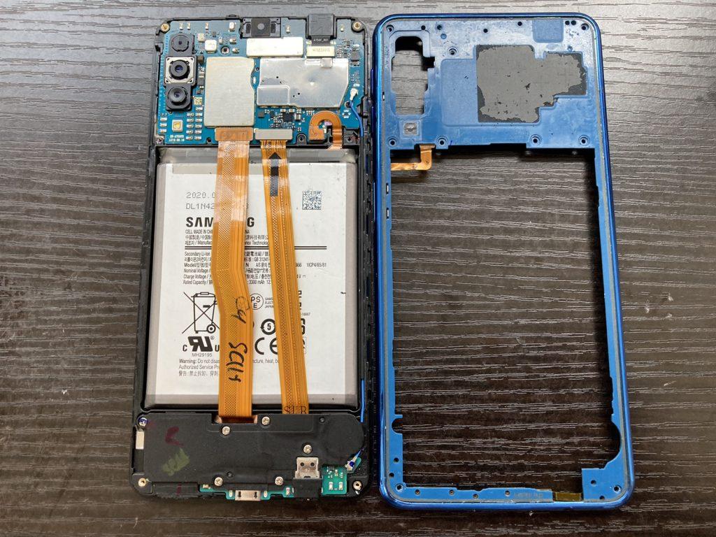 Galaxy A7 バッテリー交換 修理 新宿