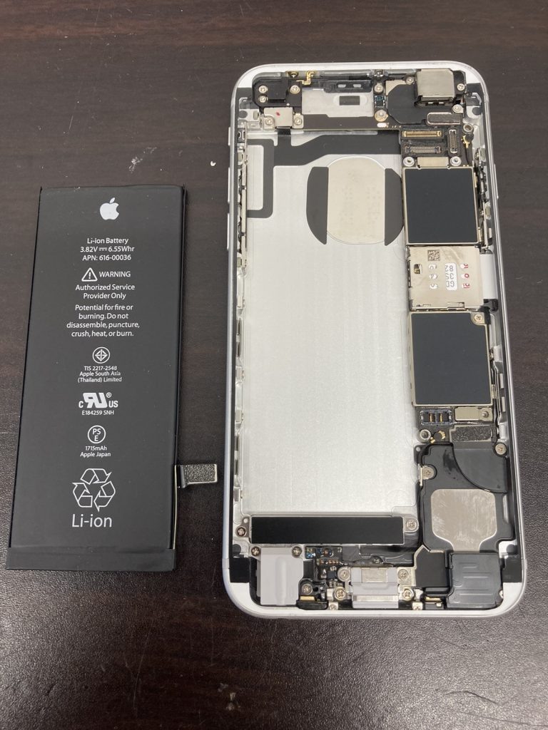 iPhone 6s バッテリー交換 修理 新宿