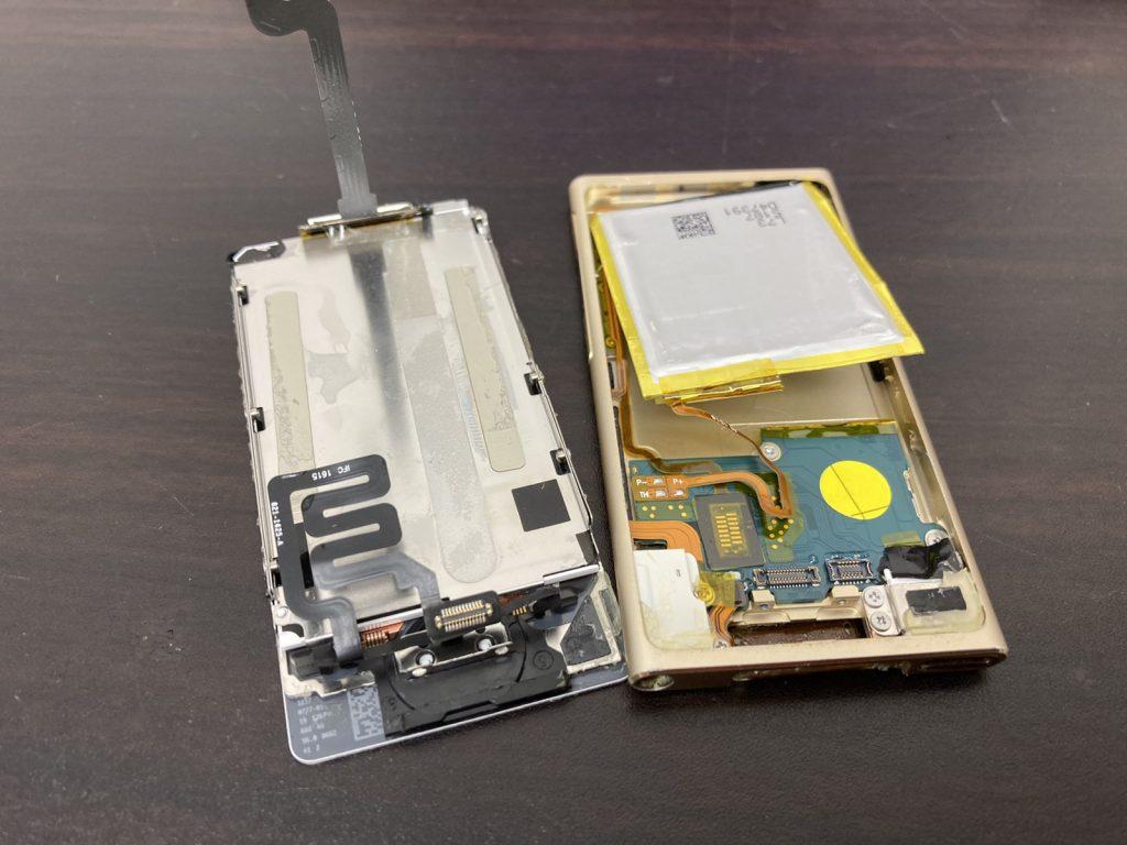 iPod nano 7 液晶不良 液晶交換 液晶修理 画面交換 画面修理 修理 新宿